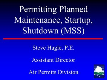 TCEQ - Permitting Planned Maintenance, Startup ... - TCEQ e-Services