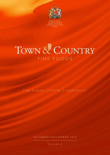 New Products Autumn 2012 - Town & Country Fine Foods