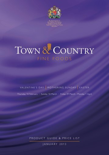 january 2013 product guide & price list - Town & Country Fine Foods