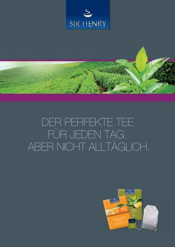 über Sir Henry Tea Produkte (PDF) - Tchibo Coffee Service
