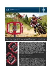 The original crankbrothers mallet has long been the most ... - DSB