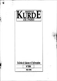 Bulletin de liaison et d'information . - Institut kurde de Paris