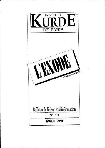 Exode (des Kurdes d'Irak) - Institut kurde de Paris