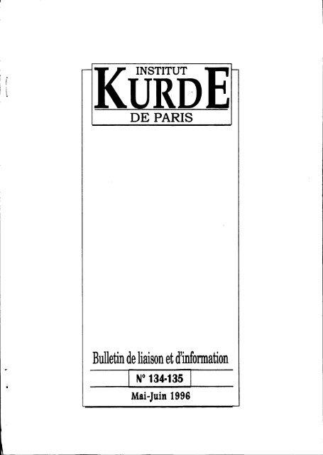 Bulletin De Liaison Et D Information Institut Kurde De Paris