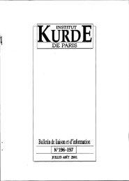 Bulletin de liaison et d'înformation - Institut kurde de Paris