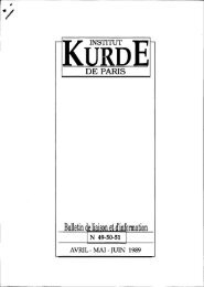 Bulletin Iii n 'information - Institut kurde de Paris
