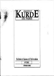 Bulletin de liaison etd'information - Institut kurde de Paris