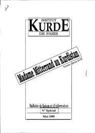 Mme Mitterrand au Kurdistan, mai 1989 - Institut kurde de Paris