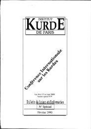 Conférence Internationale sur les Kurdes, Paris, 14-15 octobre 1989