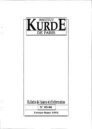 Bulletin de liaison et d'information - Institut kurde de Paris