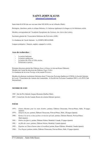 curriculum vitae - Potomitan