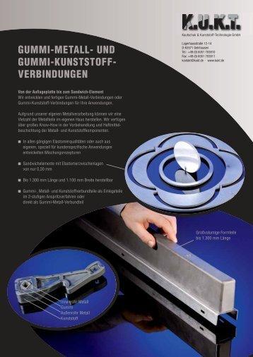 GUMMI-METALL- UND GUMMI-KUNSTSTOFF - VERBINDUNGEN