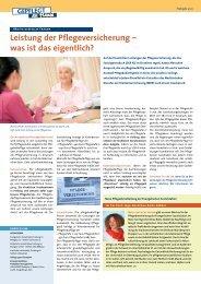 Leistung der Pflegeversicherung - Evangelische Sozialstation Freiburg