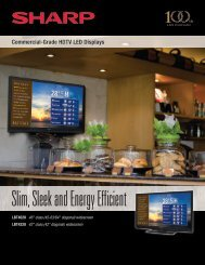 Slim, Sleek and Energy Efficient - Sharp