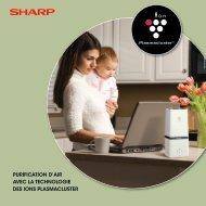 purification d'air avec la technologie des ions plasmacluster - Sharp