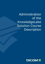 Administration of the KnowledgeLake Solution Course ... - DICOM