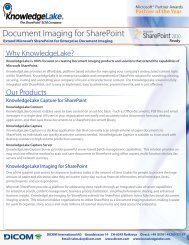 Document Imaging for SharePoint - DICOM