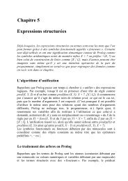Chapitre 5 Expressions structurees
