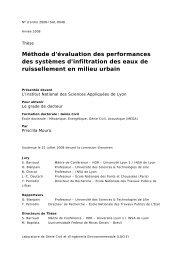 Méthode d'évaluation des performances des systèmes d'infiltration ...