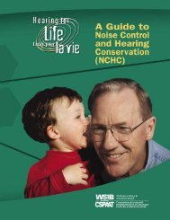 A Guide to Noise Control and Hearing Conservation - wsib