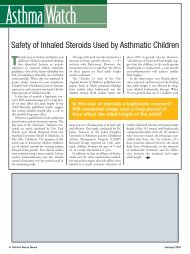 Safety of Inhaled Steroids Used by Asthmatic Children