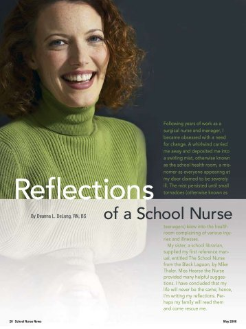Reflections Of A School Nurse - School Nurse News