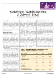 Guidelines for Insulin Management of Diabetes in School