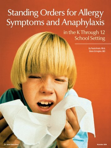 Standing Orders for Allergy Symptoms and Anaphylaxis