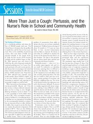 More Than Just a Cough: Pertussis, and the Nurse's Role in School ...