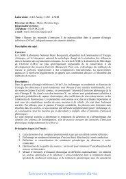 École Doctorale Rayonnements et Environnement (ED 421 ... - IPN