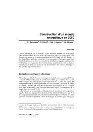 Construction d'un monde énergétique en 2050 - IPN - IN2P3