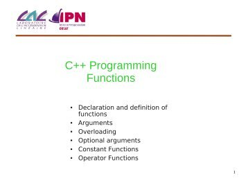 C++ Programming: Functions - IPN