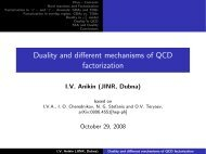 Duality and different mechanisms of QCD factorization - IPN
