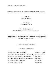 Universit e Pierre et Marie Curie THESE DE DOCTORAT DE L ... - IPN