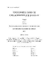 NÂ¡ d'ordre :IPNO-T-05-10 UNIVERSITE PARIS FI UFR SCIENTIFI UE ...