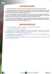 ACCELERATOR DIVISION DIVISION ACCELERATEUR - IPN - IN2P3