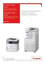 iR1020-Serie (A4) iR2500-Serie (A3) - Brochures - Canon