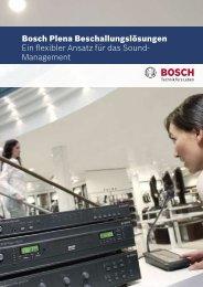 Bosch Plena Beschallungslösungen Ein flexibler ... - Deininger Gmbh