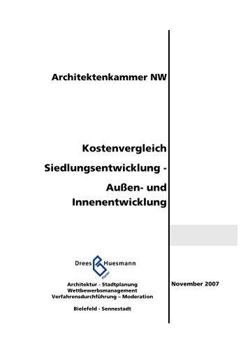 Kostenvergleich Siedlungsentwicklung Außen ... - Dhp-sennestadt.de