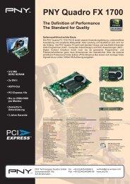 PNY Quadro FX 1700 - Computer-Tempel