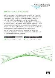 ProCurve Switch 2810 Serie