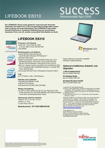 LIFEBOOK E8310