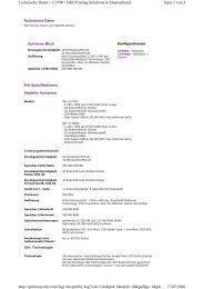 Seite 1 von 3 Technische Daten < C5700 | OKI Printing Solutions in ...