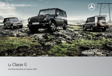 La Classe G - Mercedes-Benz France