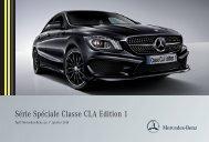 Téléchargez le tarif Nouvelle Classe CLA Edition 1 - Mercedes-Benz ...