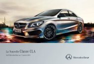 Tarif Classe CLA (PDF) - Mercedes-Benz France