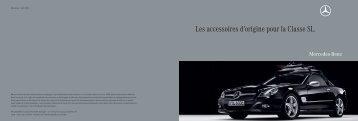 Les accessoires d'origine pour la Classe SL. - Mercedes-Benz France