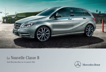 Tarif Classe B - Mercedes-Benz France
