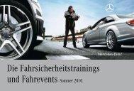 Die Fahrsicherheitstrainings und Fahrevents ... - Mercedes-Benz