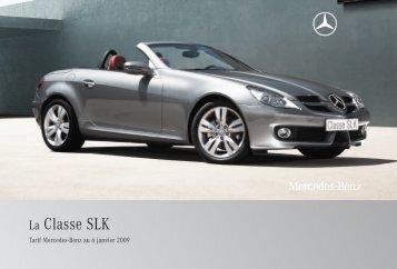 06 - SLK:Tarifs - Mercedes-Benz France